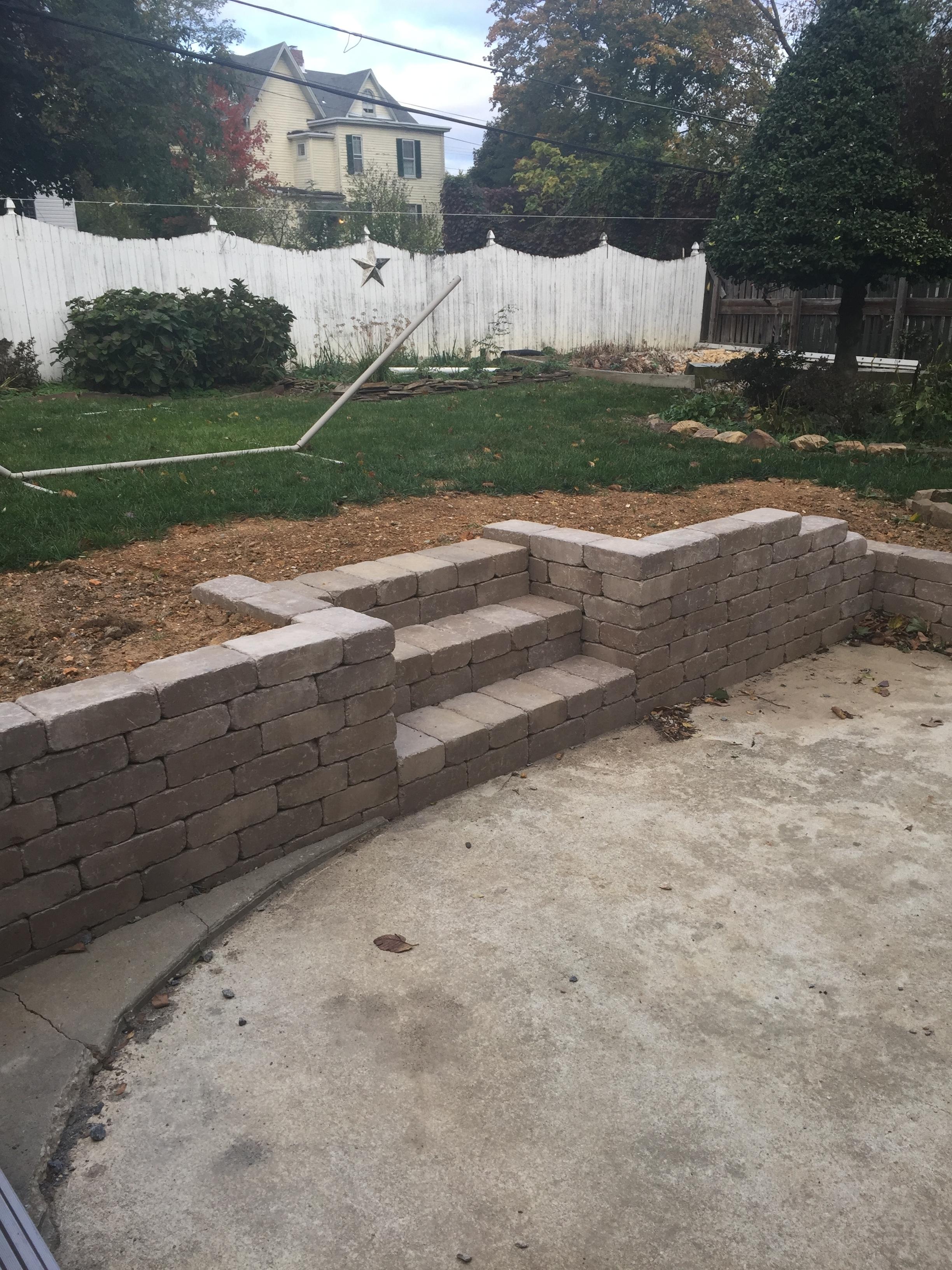 retaining walls just landscaping