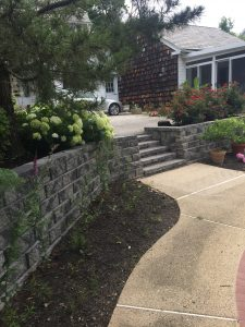 patio retaining wall
