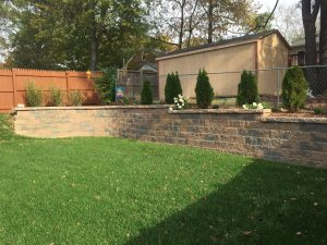 beautiful retaining wall
